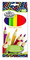 Royal Langnickel 12 pc NEON COLOR Colored Pencils Drawing Set Sketching Draw