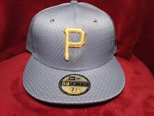 Pittsburgh Pirates New Era 5950 Fitted Hat Size 7 1/4 Gray Mesh NWT w/ Tags MLB