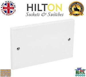 HILTON 2Gang or Double Blank Plate White Plastic ***Best Quality**