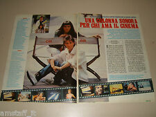 ON AIR MOVIES clipping articolo fotografia photo 1985 AS83 PEDRATTI LA BIONDA
