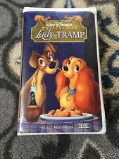 Lady and the Tramp Walt Disney's Masterpiece VHS Cassette Movie Clamshell Case