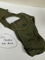 "US GI WWII 30 CAL /""T/"" HANDLE 2 SECTIONS CLEANING ROD WITH OD CANVAS CASE."