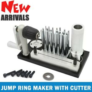 JUMP RING MAKER W/ CUTTER STAINLESS STEEL JEWELRY DRAWING MACHINE PORTABLE TOOL
