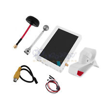 "White FPV Aerial 5"" LCD Screen Wireless Diversity Receiver Monitor 32CH 5.8Ghz"