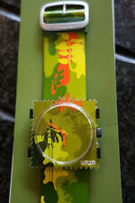 Stamps Watch French Collection Lady Camo Green Face & Leather Strap S.T.A.M.P.S.