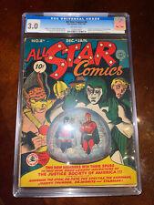 All Star Comics #8 CGC 3.0 DC 1941 1st Wonder Women! Key Golden Age! cm