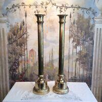 Fluted Tall Brass Altar Candlesticks