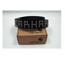 Cinturón piel Carhartt talla S 85cm negro