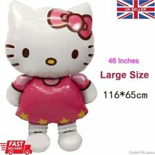 """Hello kitty foil balloon party kids child girl pink 116cm x 68cm Giant 46"""" inch"""