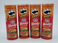 Pringles Wendys Spicy Chicken Potato Chips Crisps Limited Edition  5.5oz 4 Cans