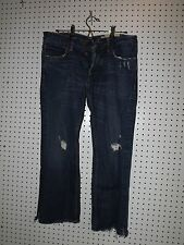 HOLLISTER Mens Boomer Button Fly Low Rise Slim Boot Distressed Jeans 30 x 27
