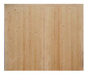 Pair of Barn, Cart Lodge, Oak Framed Building Side Hung Timber/ Wooden Doors