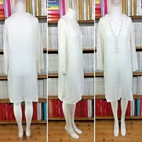 JOSEPH kaftan dress beach linen beaded sheer gauze silver resort UK 8 10 US 4 6