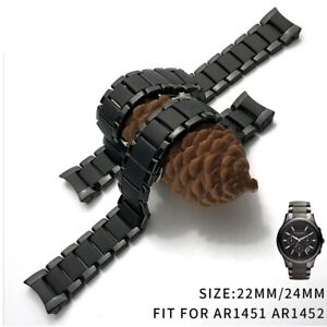 Watch Brand For Armani Watchband Samsung S3 S4 Curved End Wrist Strap 22/24mm