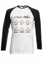 Many Faces Of Blobfish Funny Men Women Long Short Sleeve Baseball T Shirt 148E