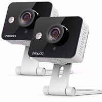 Zmodo 2 Pack WiFi Wireless HD Indoor Security Camera Night Vision Two-Way Audio
