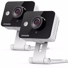 Zmodo 2 Pack WiFi HD Wireless Indoor Security Camera Night Vision Two-Way Audio