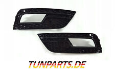 Fog Light Blinds for Audi A4 B8 Facelift Honeycomb Grille Black