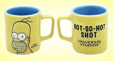 Homer The Simpsons Universal Studios Shot Glass Mug Not So Hot Shot Glass Yellow