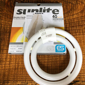 Sunlite Fluorescent Double Circline Ceiling Light 40W Warm White FC40/2C/30K