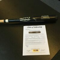 1986 Rickey Henderson Signed Game Issued Louisville Slugger Baseball Bat PSA DNA