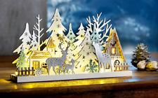 LED Fensterdeko WALDSZENE Wald Bäumchen Weihnachtsdeko Beleuchtung Leuchtdeko