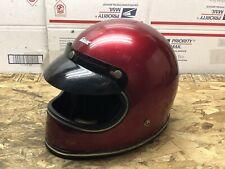 Vintage Classic Grant FF R69 Helmet. Red Bobber Chopper Caffe Racer Motorcycle