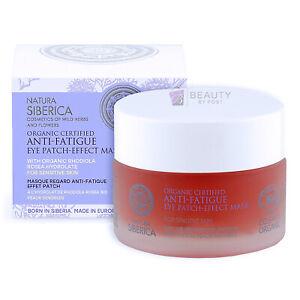 EYE PATCH-EFFECT MASK Anti-Fatigue Natura Siberica Vegan sensitive skin 50ml