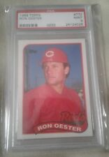 1989 Ron Oester Cincinnati Reds PSA Graded Baseball Card