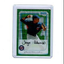 2011 Bowman Chrome prospects Jorge Polanco Green Xfractor Rookie Card! TWINS RC!