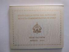 FOLDER VUOTO VATICANO 2013 COMMEMORATIVO SEDE VACANTE-SENZA LA MONETA DA 2 EURO
