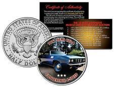 1971 HEMI CUDA CONVERTIBLE 4-SPEED Expensive Muscle Car JFK Half Dollar US Coin