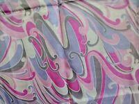 "Vintage 1960s Nylon Fabric Dress Psychedelic Groovy 2yds + 21"" x 45""WYD"