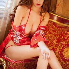 Lencería SEXY/Sissy Mujer Albornoz tres puntos Erótico Ropa Interior Juegos con disfraces (INT)