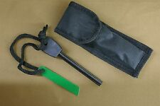 MAGNESIUM FIRE STEEL STARTER STRIKER WITH PROTECTIVE BELT POUCH. OVER 1,000 USES