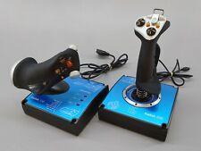 Saitek X45 HOTAS USB Joystick and Throttle Flight Sim Gaming System Controller