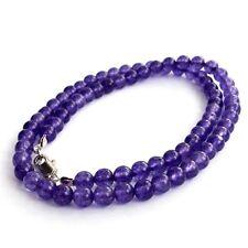 "charming 6 mm Russian Amethyst Gemstone bead necklace 18 """