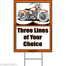 MOTORCYCLE HAWG PERSONALIZED YARD SIGN Party Supplies FREE SHIPPING NEW