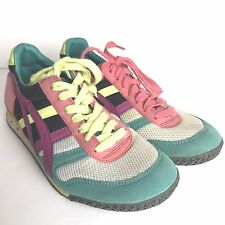 ASICS Tiger Onitsuka HN567 Ultimate 81 Pink Purple Teal Rainbow Sneakers Women 6