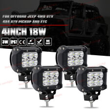 4x 4inch 18W CREE Led Work Light Bar Pods SPOT Cube Offroad Fog SUV ATV UTE 4WD