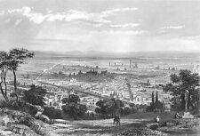 Italy, BOLOGNA Emilia-Romagna City View ~ Old 1861 Landscape Art Print Engaving