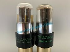 "Sylvania 6SN7GT 2-Hole ""BAD BOY"" Vacuum Tubes PLATINUM MATCHED on AT1000"