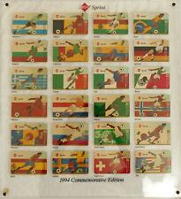 Sprint $25 Soccer World Cup 1994 Set of 24 Different Phone Cards Framed