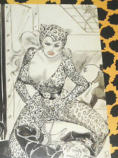 Eric STANTON Fetisch Kult Erotik Postkarte Akt Bdsm Domina Catwoman Bondage