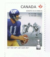 2012 CANADA CFL FOOTBALL WINNIPEG BLUE BOMBERS SINGLE STAMP CANADIAN