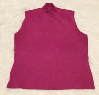 Spenser Jeremy Cowl Neck Sweater Size Medium Women's Pink Sleeveless Top