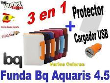 Pack PARA BQ AQUARIS 4.5 Fnac PHABLET 4,5 SMARTPHONE + 1 protector + 1 cargador