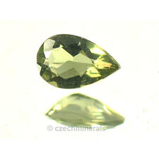 0.22cts pear 3.5x5.5mm moldavite faceted cutted gem #BRUS606