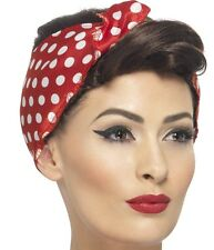 40s 1940s 40's Ladies Rosie Fancy Dress Wig & Scarf Retail Boxed New by Smiffys