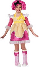 NWT Lalaloopsy Sugar Cookie Costume 3 4 3T 4T Halloween Dress Up w Wig Boot Tops